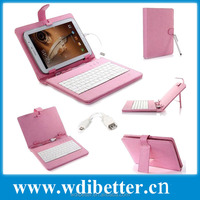 "Micro USB Keyboard Cover Leather Case Bag For 7"" Inch Tablet PC MID US Shipping"