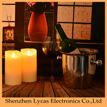 Flameless LED Moving Flame Wick candle with Auto Timer option