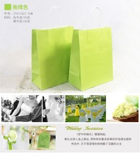 Personalized shopping gift paper bag with custom design
