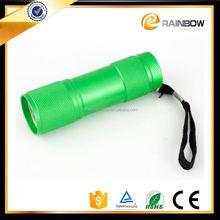 Hot Cheap aluminium green led flashlight for promotion gift