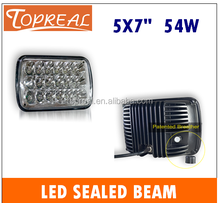 Tight waterproof led sealed beam rectangle 5x7 ,led headlight for toyota