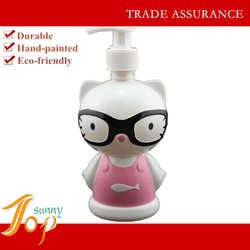 Cartoon Pink Cat with A Pair of Glasses Foam Soap Dispenser