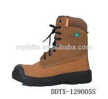 De cuero de vaca de petróleo y botas mineras CSA aprobado CSA botas de trabajo