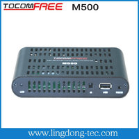 New decodificador de satelite Tocomfree M500 iks free dongle sks for South America tv receiver