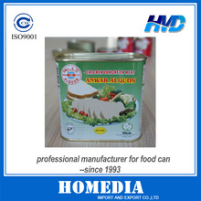 340g Trapezoidal can for corned beef can with key
