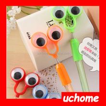 UCHOME Big eyes ballpoint pen,oxeye ballpoint pen,cartoon pen for promotion