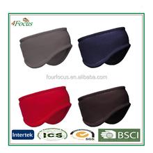adult micro fleece elastic headband/embroidered headwear
