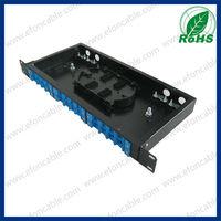 1U 19-inch 24 port corning Fiber Optic Patch Panel