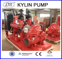 fire pump diesel engine/split case fire fighting pump /fire pump system double suction pump