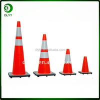 High Intensity Reflective Fluorescent PVC Safety Road Cone