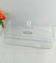 Plastic Reusable Food Storage Container with Clear Lid