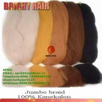 100% Kanekalon Jumbo Brai Yaki Braid X-Pression Braid Hair