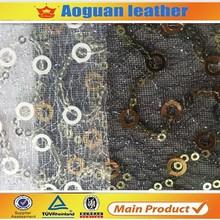Wholesale lady fashion shoes lace fabric