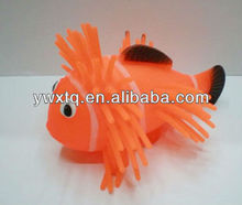 ugly fish, air filled beach ball, hairy puffer ball toys, soft animal ball, flashing rubber ball for kids