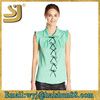 New design light weight cotton tops latest design long sleeves ladies net top