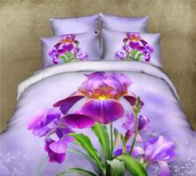 2015 new design 210 thread count sateen cotton 3D king bed duvet