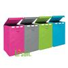 Large foldable storage box for laundry organizer