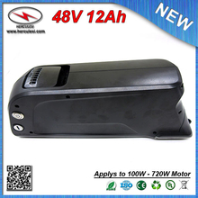 OEM & ODM Dolphin 48V 12Ah Ebike water bottle battery with 3.7V 3000mah Samsung 18650 cell 15A BMS + 54.6V 2A Charger