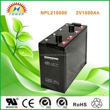 2V1000AH solar battery for off-grid solar systems