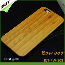 Eco friendly personalized bamboo wooden cell phone case for iphone 6, for iPhone 6 wooden case bamboo, engraving cell phone case