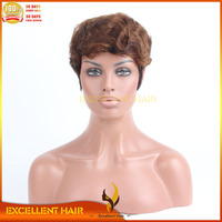 1B / 30 mixed color short wigs new fashion full cap machine made wigs no less gluless wigs for white women short hair bod style