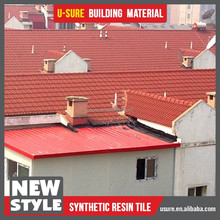 3D shape synthetic resin roof tile for small villa design
