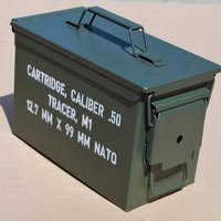 PA108 Military army Spec FAT .50 Caliber Ammo Box, Ammunition Can,steel construction