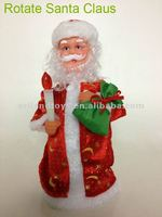 Plastic Rotate Santa Claus for Christmas decorations