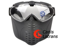 Military Paintball Black Protective Mask With Fan CL9-0009