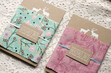 Fancy Woodland and Fabric Wedding Invitations