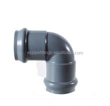 pvc pressure rubber ring fittings PVC Gasket fittings 90 degree elbow
