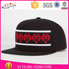 Embroidery logo black wholesale custom underbrim cap snapback