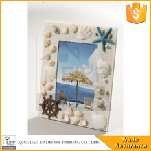 China Wholesale Home Decoration Photo Frame With Sea Star Shell Decorated