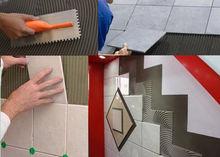 New arrivals acrylic pro ceramic tile adhesive laying self adhesive floor tiles mastic floor