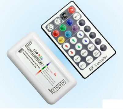 12A DC12V/144W 24V/288W Plastic RF 28 Key RGB Controller