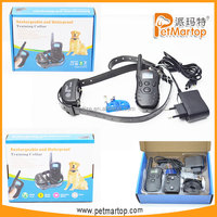 2015 new rechargeable and waterproof remote dog training collar TZ-KD668 pet products obedience training for dogs
