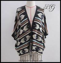 De gama alta jacquard mohair géneros de punto para mujer short cardigans bg151107, tendencias más el suéter de mohair