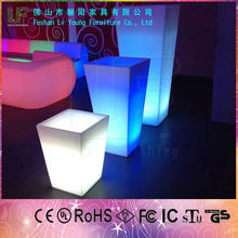 2015 China Wholesale Beautiful concrete planters LED lighted flower pots ,Color Of The Tall Plastic round LED Planter Pots