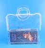 0.3mm transaprent PVC plastic christmas gift bags with hole handle