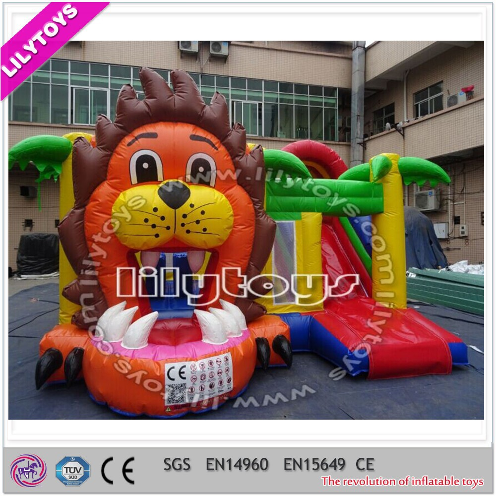León inflable mini jumper combo, barato inflatbale combo, niños inflables combo