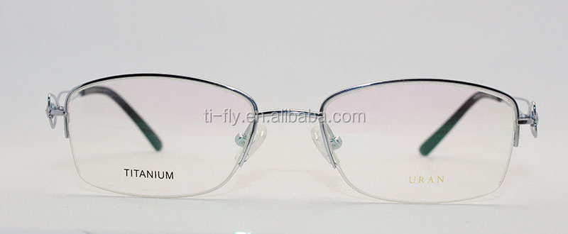 New Trend Product Womens Rhinestone Titanium Semi Rimless ...