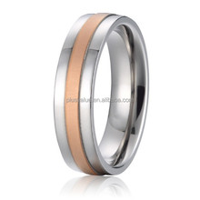 new surgical stainless steel jewelry 18k rose gold plated mens wedding band promise rings designs