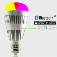 New Arrival CE Rohs UL 10W RGB Bluetooth LED Light Bulb B22 With Music+Group+Timer Function