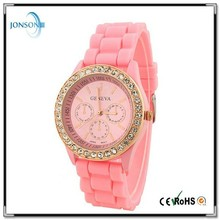 products made in china with ladies geneva watches and geneva fashion silicone watch with cheap price