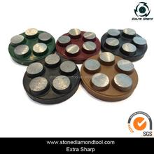 5 Dots Hard Medium Soft 125mm Diamond Grinding Wheels for Floor Grinder