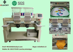 2015 Elucky computerized small home single head cap embroidery machine prices