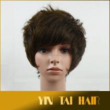 resistente al calore centro storico donne di età signore anziane stylish ed elegante capelli corti parrucca piena naturale