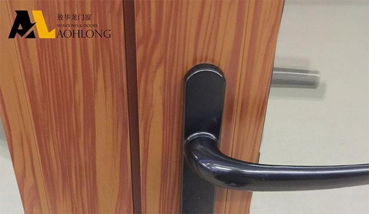 나무 곡물 알루미늄 여닫이 문 강화 유리-문 -상품 ID:60559530466 ...