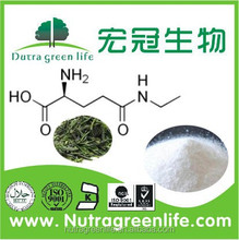 Organic Green tea extract powder, L-Theanine, factory supplier with best price