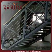 interior handicap l shape stairs railings